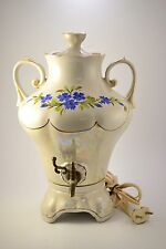 VINTAGE USSR RUSSIAN AMAZING SOUVENIR PORCELAIN ELECTRIC SAMOVAR TEA