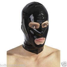 Latex Kopfmaske schwarz Fetisch Fetish BDSM Domina Sklave SM Kostüm Latexmaske