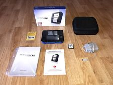Blue Nintenro 2DS Cib With Charger AR Cards Case & New Super Mario Bros.