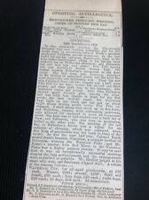 H7-1 Ephemera Times 1892 Article Waterloo Cup Coursing Results