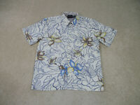 VINTAGE Billabong Button Up Shirt Adult Medium Yellow Floral Surfer Mens 90s A21