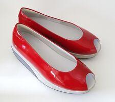 MBT Kianga Red Patent Peep Toe Toning Walking Shoe Size 38 7-7.5M