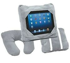 Kids GREY Tablet Holder Car Mount Travel Neck Cushion Smart Pillow Bean Bag