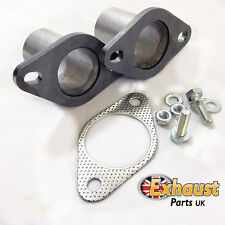 "1 3/4"" Exhaust Flanges Joint Gasket and Bolts 45mm Tube Pipe Repair Section kit"