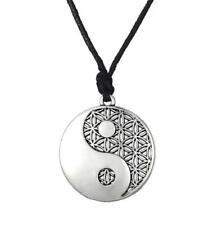 Flower of Life Yin Yang Pendant Necklace Sacred Geometry Spirituality Zen