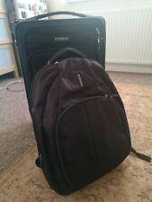 Black Samsonite cabin luggage 56cm x Samsonite spacious laptop backpack