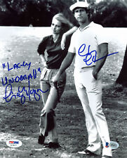 Chevy Chase & Cindy Morgan Caddyshack Signed 8x10 Photo BAS Witnessed 4