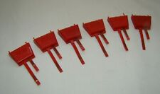 Vintage HORNBY Power Connectors x 6 Red
