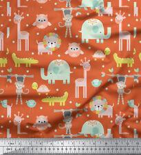Soimoi Fabric Jungle Animals Kids Print Sewing Fabric Meter - KD-590H