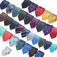 Classic Mens Tie Red Black Blue Floral Stripe Necktie Set Wedding Jacquard F