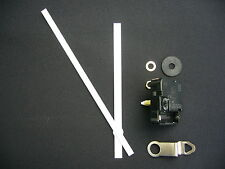 HIGH TORQUE CLOCK MOVEMENT MEDIUM SPINDLE 170MM WHITE METAL BATON HANDS