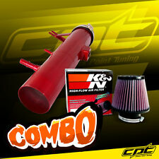 2011 2012 2013 2014 Ford Mustang 3.7L V6 Red Cold Air Intake + K&N Air Filter