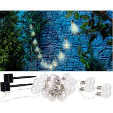 Lunartec Solar-LED-Lichterkette im Glühbirnen-Look, 12 Birnen, 8,5 m, 2er-Set