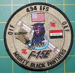 USAF Patch 494th Expeditionary Fighter Squadron F-15E OIF/OEF