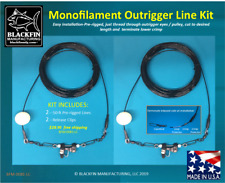 Outrigger Line Kit - Two 50 Ft Pre-Rigged 400Lb Monofilament Outrigger Lines