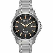 Citizen Men's AW1490-50E Chandler Titanium Silver-Tone Bracelet 42mm Watch