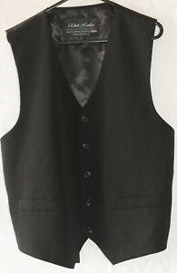 XS Black Vest Men Tailored Clothing for Tuxedo Jacket Formal Occasion Wedding