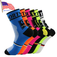 Men Women's Compression Socks Athletic Running Riding Cycling Breathable Socks