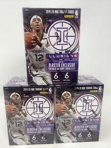 2019-2020 Panini Illusions NBA Basketball Blaster Box Sealed - Lot Of (3)
