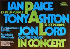 PAICE, ASHTON & LORD (Deep Purple)  Konzertplakat von 1976