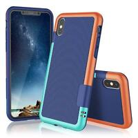 Hülle iPhone XS X Hülle Silikon Case Schutzhülle Cover Handyhülle Bumper + Glas
