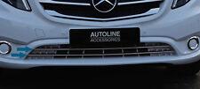 Para adaptarse a Mercedes Benz Vito W447 2014+: Cromo PARRILLA FRONTAL PARACHOQUES acento trim