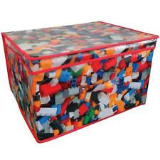 TOY BRICKS BUILDING BLOCKS FOLDING STORAGE CONTAINER TOY TIDY BOX