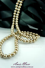 *110pcs Beads 8mm Gold Color Imitation Acrylic Round Loose Pearl Spacer*