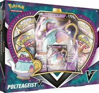Pokemon TCG Polteageist V Box Collection Sword & Shield 4 Booster Packs