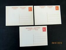 Finland Postal Cards, 3 Diff., (1 revalued7 over 6p), mid 1940's, Mint/Nh/Vf