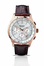 Sekonda Mens Quartz Watch with Silver Dial Analogue Display and Brown Leather S