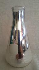 VINTAGE PYREX SCIENTIFIC MEDICAL LABROTORY SILVER GLASS MEASURING BEAKER
