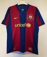 FC BARCELONA 20072008 HOME FOOTBALL JERSEY CAMISETA SOCCER MAGLIA SHIRT