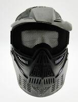Maschera softair protezione totale nera + collo