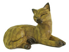 Cat Figurine Lying Resin Approx 13x19cm