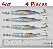 Diamond Jigs 4oz Holographic 4 Pieces Saltwater Fishing Lures