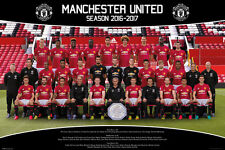 MANCHESTER UNITED - 2017 TEAM POSTER - 24x36 FOOTBALL SOCCER FC 34186