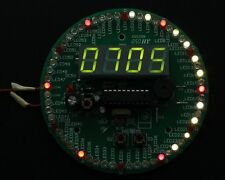 DIY Kit 60S Rotate Electronic Clock Kit Second Hand Plate