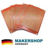 5x DIY Lochraster Platine Lötplatine 5x7cm 50x70mm Prototypen Leiterplatte PCB