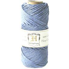 Hemp Cord Spool 20# 205 Feet 50 grams Light Blue Imported from Romania