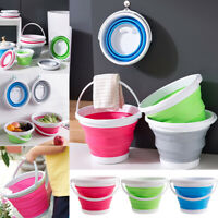 Collapsible Foldable Water Basket Bucket Silicone Kitchen Folding Camping Garden