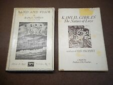 KAHLIL GIBRAN, The Nature of Love - Sand & Foam Two Old HC Books Good Reads!