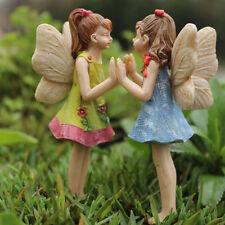 Miniature Fairy Garden FAIRIES ANDREA & AMANDA Figurine (NIP)