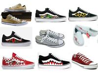 New Custom Vans and Converse Shoes Red Rose, Bape, Pink Rose, Glitter Shoes