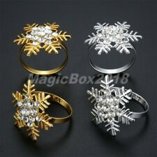 6/12pc Snowflake Napkin Rings Party Table Dinner Banquet Serviette Buckle Holder