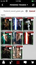 Topps Star Wars Digital Card Trader 8 Card Green Glass Posters 2 - Wave 2 Set