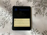 Authentic OEM Sony Playstation 2 PS2 8MB Magicgate Memory Card SCPH-10020 Black