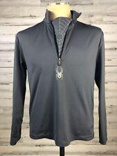 Spyder Core Gray sz S 1/2 Zip Pullover Long Sleeve Sweater Base Layer Ski