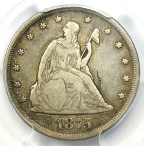 1875-CC Twenty Cent Piece 20C (Carson City Coin) - Certified PCGS VF25