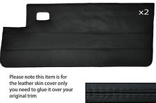 BLACK Stitch 2x COMPLETO PORTA CARD IN CUOIO PELLE COPERTURA adatta per PEUGEOT 205 CJ Cabrio